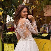 Elegant Mermaid Wedding Dresses With Beading Crystal Detachable Lace Tulle Train image 4