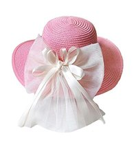 Children Folding Beach Hat UV Girls Summer Sunscreen Large Brimmed Hat Child image 2