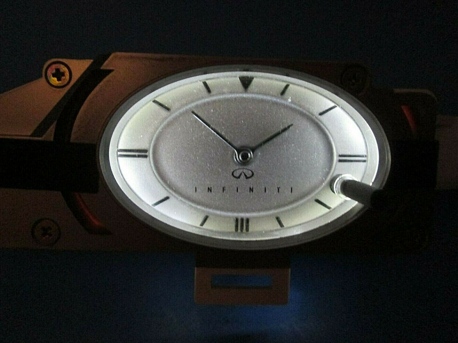 Primary image for Infiniti G35 2003-2004 Silver Dash Clock analog LED bulbs 03-04 OEM TESTED Rare