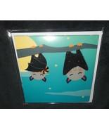 NEW HAPPY HALLOWEEN CANDY BATS TRICK OR TREAT GLITTER POP-UP 3-D GREETIN... - $3.70