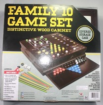 Genuine Oem Cardinal Family 10-Game Center In Wood Case Free Shipping - $19.34