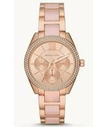$275 Michael Kors MK7132 Janelle Multifunction Rose Gold Tone Pink Aceta... - $104.97