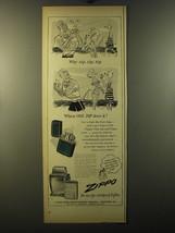 1950 Zippo Cigarette Lighter Ad - Why Zip, Zip, Zip - $14.99