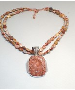 Mine Finds Jay King DTR Sterling Silver Peachy Sunstone Pendant Necklace - $130.89