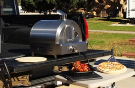 Portable Pizza Oven Table Top Ovens Stone Gas Large Stainless Steel Bake... - $384.75