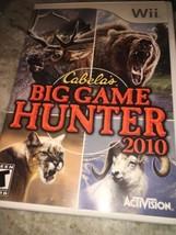 Nintendo Wii: Cabelas Big Spiel Hunter 2010 Videogames - $11.89