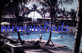 Vtg 35mm Sllide Nov/1962 Plastichrome ~  Dorado Beach Puerto Rico Pool T... - $9.89