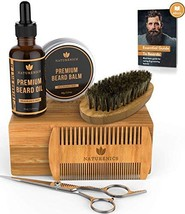 Naturenics Premium Beard Grooming Kit for Mens Care - 100% Organic Unscented Bea image 1