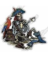 Pirate Skeleton Sailor Dead Parrot Car Bumper Window Vinyl Sticker Decal... - $3.50