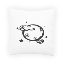 Moon phase BLACK New Moon Pillow Cushion Cover w259p - $12.02+