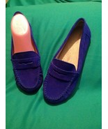 MERONA 8M WOMEN'S ROYAL BLUE GENUINE SUEDE LEATHER PENNY LOAFERS FLATS S... - $21.87