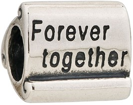 Sterling Silver Forever Together Scroll Bead Fits EuropeanCharms - $40.29