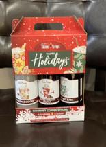 Jordan's Skinny Syrups Happy Holidays Gourmet Coffee Syrup Trio 3- 0 Sugar - $17.34