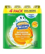 Scrubbing Bubbles 4 Pack Lemon Foaming Bathroom Cleaner, 25 Ounce Pack o... - $14.57