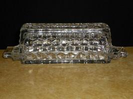 Fostoria American Stick BUTTER DISH with Lid Elegant Cubist Glass 7.75 inch - $29.69