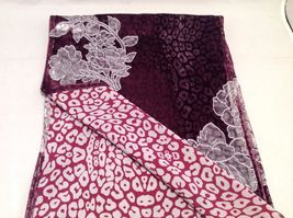 Gorgeous Combo Scarf Velvet and Satin floral vintage rose abstract color choice image 13