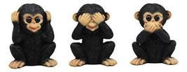 Ebros Silly See Hear Speak No Evil Baby Chimpanzees Figurine Set of 3 Three Wise - $24.95