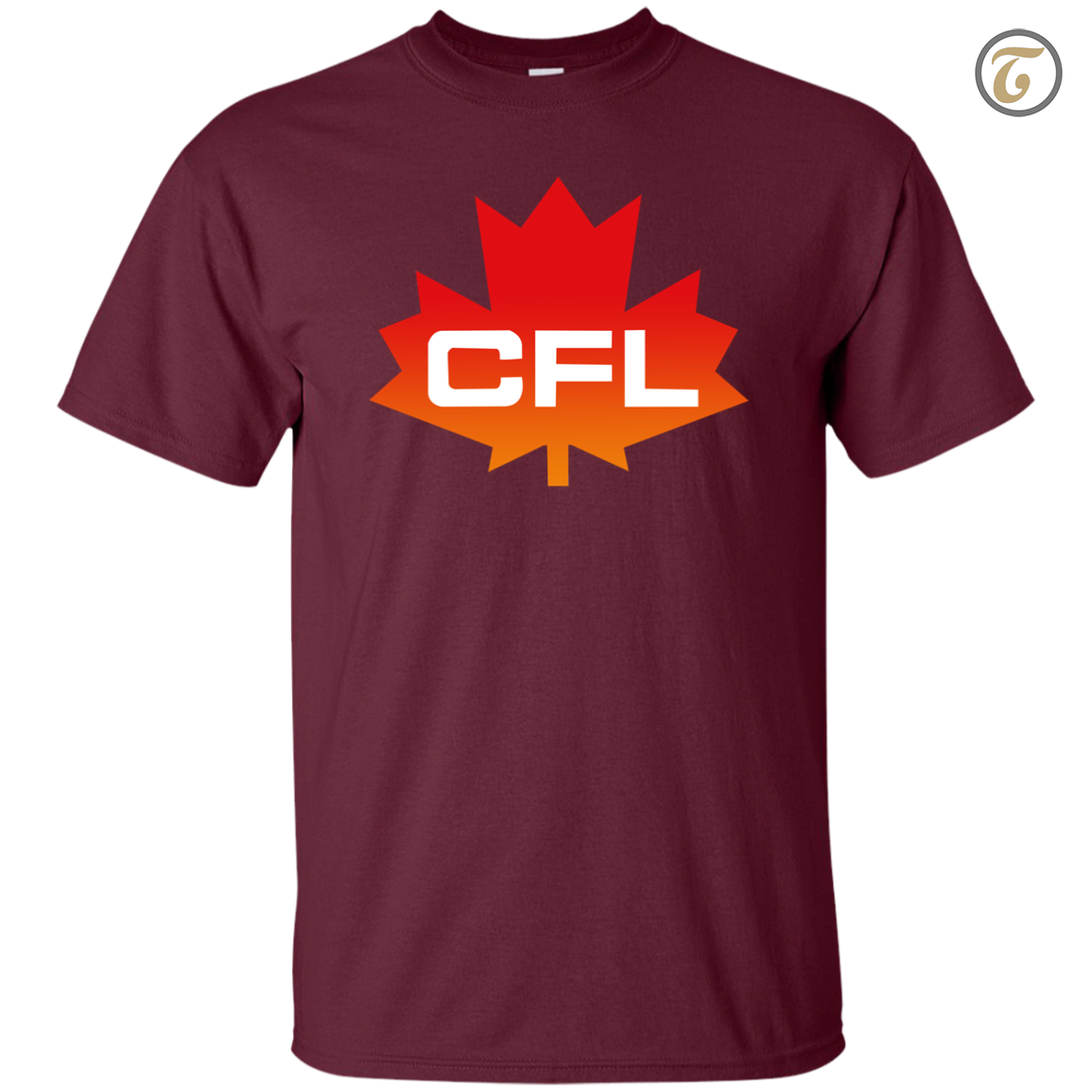 Cfl  logo  canadian  football  league  men s t shirt   maroon
