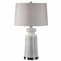 Uttermost Kansa Distressed White Table Lamp - $151.80
