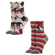 Harley Quinn Batman Dc Comics Adult 2 Pack of Crew Socks - $11.95