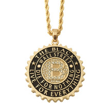 14K Gold GP The Black Wall Street Live or Die Pendant Rope Chain Necklac... - $11.29