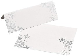 "Snowflake Place Cards (24 Pack) 4"" x 1 1/2"". - $6.60"