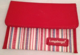 Longaberger Market Stripe Coin Purse Matches 2004 Mothers Day Tote - $11.76