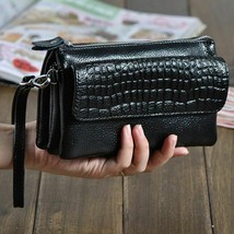 Genuine Leather Clutch Women Long Wallets Women Money Purse Large Capacity - $25.86 CAD