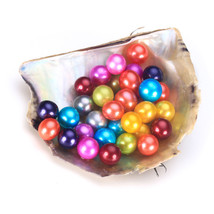 30pcs Loose Pearl AAA Round Akoya Oyster Pearls Wholesale Price Colorful - $93.14