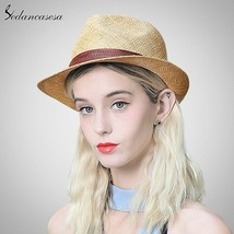 Sedancasesa® New Sun Hat For Women Men Jazz Cap Panama Floppy Hat Fedora... - $49.44