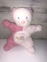 "Kids Preferred CUDDLE BUG Bear Rattle 7"" Pink Plush Allergy Friendly Bab... - $12.67"