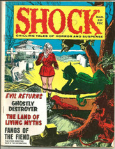 "Shock #6,1970 Chilling Tales of Horror & Suspense 8 1/2 x11"" B&W VG+ Com... - $19.80"