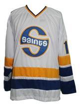 Custom Name # Minnesota Fighting Saints Hockey Jersey Antonovich White Any Size image 3