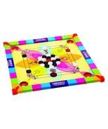 Kids Carrom Board Game Wooden + acrylic Coins & Striker carromboard comb... - $64.35