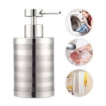 Soap Dispenser 300ml Stainless Steel Liquid Lotion Bottle Manual Pump Di... - $13.91