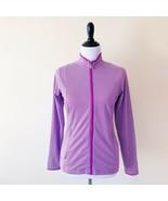 Adidas Womens Climalite Zip Up Jacket Purple White Striped Small - $14.99