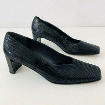 STUART WEITZMAN Womens 8AA Square Toe Heels Snakeskin Print Leather - $57.95