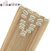 s-noilite 8PCS/SET 24 inch Long Striaght Real Thick Full Head Weft Clip ... - $12.60
