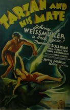Tarzan and his Mate - Johnny Weissmuller - Movie Poster - Framed Picture 11 x 14 - $32.50