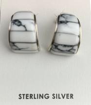 Native American Navajo Sterling Silver White Buffalo Turquoise Earrings ... - €110,49 EUR
