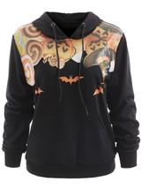 Pumpkin Lantern Halloween Hoodie(BLACK M) - $23.69