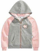 epic Threads Big Girls  NWT  Pink Grey Zip Hoodie Size Small Heart KD433 - $28.75
