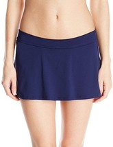 NEW Anne Cole Blast Solid Navy Rock Skirted Swimwear Bikini Bottom XS XS... - $12.38