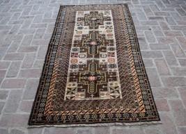 Size: 7 x 3.8 feet, Beautiful Handmade Vintage Afghan Nomadic 100% Wool Rug - $249.00