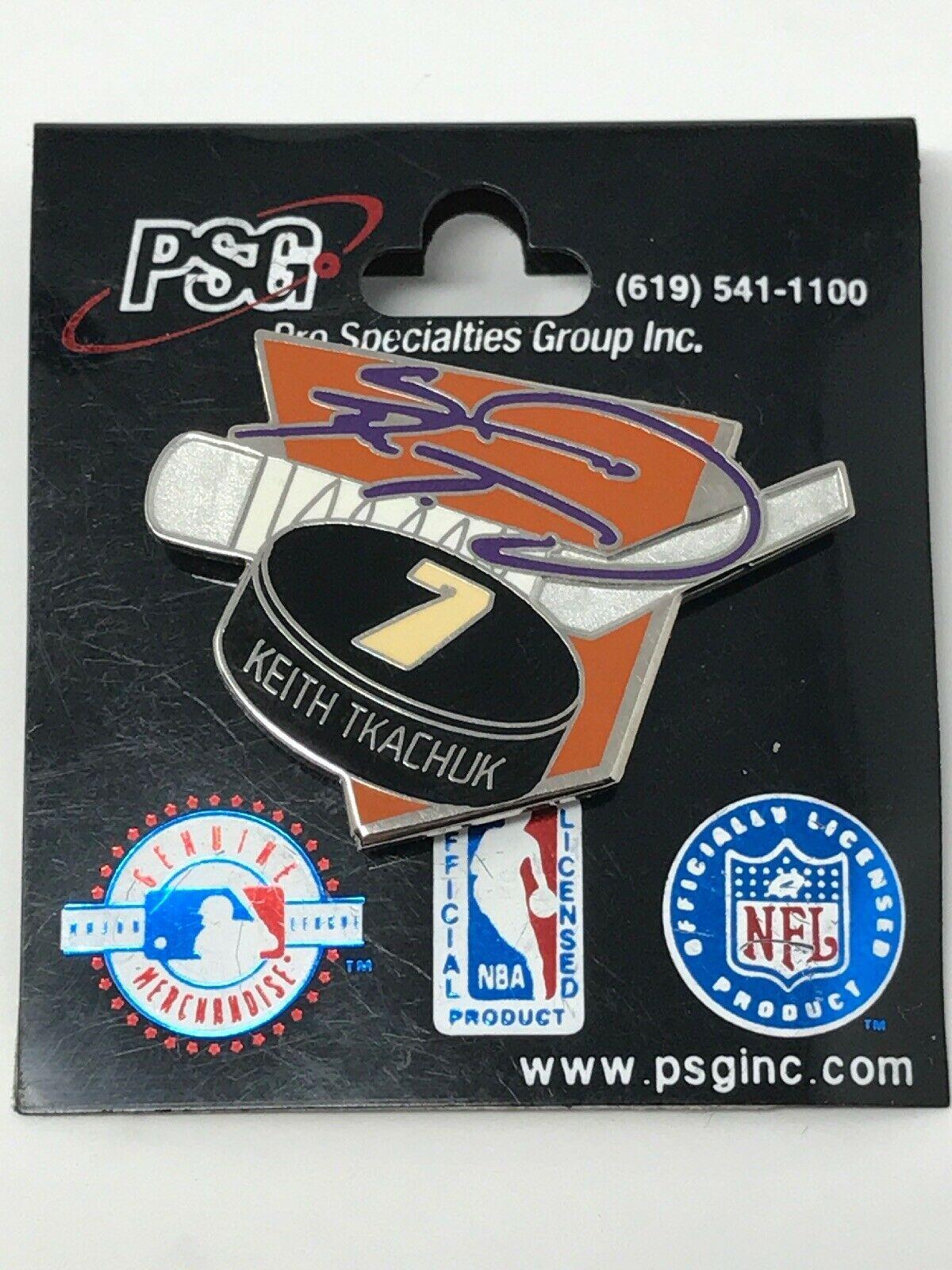 NHL Phoenix Arizona Coyotes VTG Logo Pin Keith Tkachuk #7 Puck New NOS
