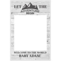Adventure Baby Shower Selfie Frame Social Media Photo Prop Poster - $16.34+