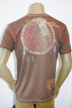 NEW REMETEE by AFFLICTION mens heritage SERIES graphic EAGLE BROWN Tshir... - $29.82