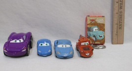 Cars By Disney Pixar 3 Cars Keychain w/ Car & Mini Deck Of Cards Lot Of 5 - $10.88