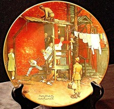 """1979 """"The Homecoming"""" by Norman Rockwell Plate with Box ( Gorham ) AA20- CP2206"""