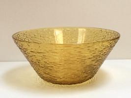 VTG Large Amber Gold Yellow Anchor Hocking Fire King SORENO Salad Servin... - $26.72